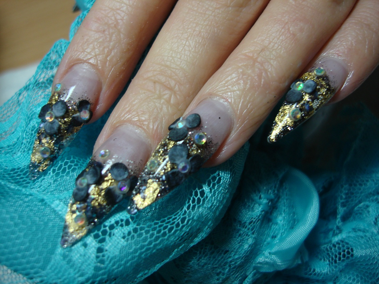 Аквариумны дизайн ногтей фото